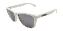 Oakley - Frogskins White/Silver Oval Unisex Polarized Sunglasses - 55mm