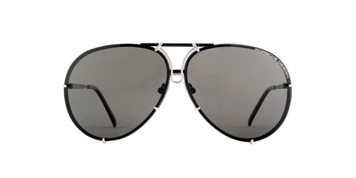 Porsche Design - P8478 black, silver Aviator Unisex Sunglasses - 66mm