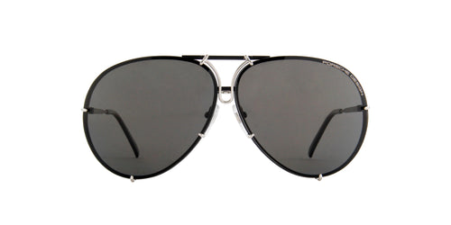 Porsche Design - P8478 black, silver Aviator Unisex Sunglasses - 69mm