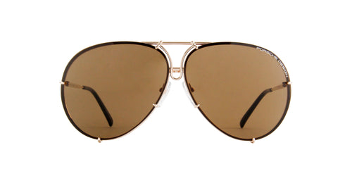Porsche Design - P8478 light gold Aviator Unisex Sunglasses - 69mm