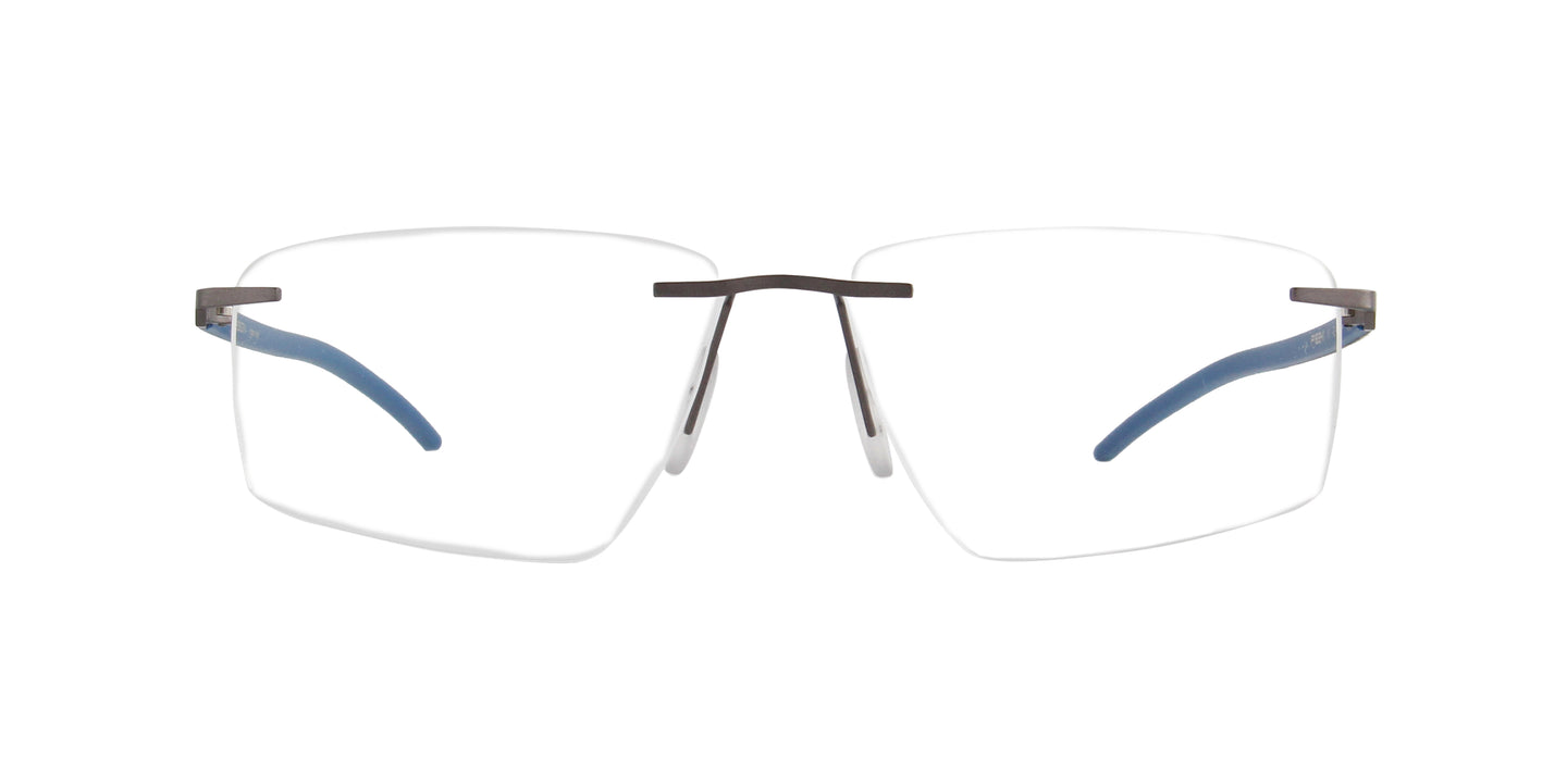 Porsche Design - P8341 grey-blue Rectangular Men Eyeglasses - 57mm
