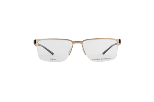 Porsche Design - P8352 gold Rectangular Men Eyeglasses - 56mm