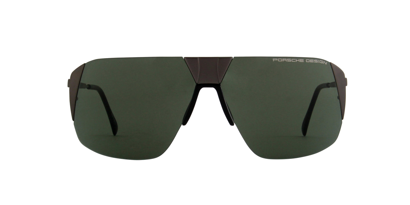Porsche Design - P8638 dark gun Aviator Unisex Sunglasses - 66mm