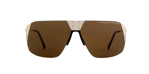 Porsche Design - P8638 light gold Aviator Unisex Sunglasses - 66mm