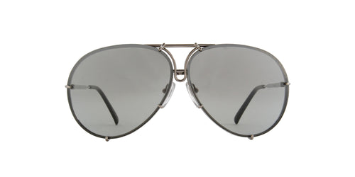 Porsche Design - P8478 titanium Aviator Unisex Sunglasses - 66mm