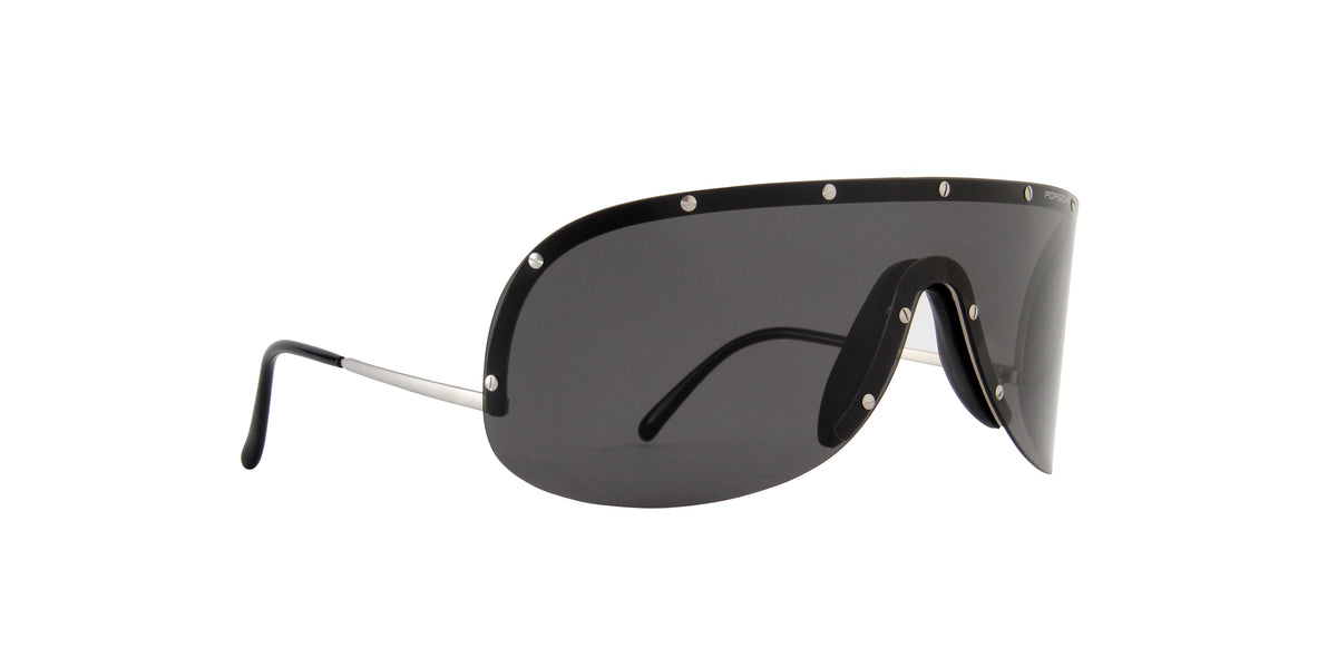Porsche Design - P8479 Titanium/Grey Wrap Unisex Sunglasses - 14mm