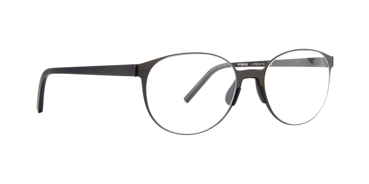 Porsche Design - P8312 Dark Grey/Black Oval Unisex Eyeglasses - 53mm