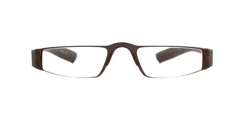 Porsche Design - P8801 +1.50 Brown Rectangular Unisex Readers - 48mm
