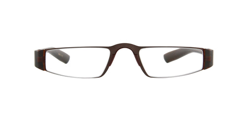 Porsche Design - P8801 +2.50 Brown Rectangular Unisex Readers - 48mm