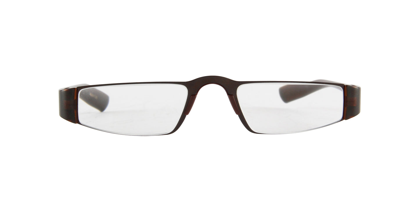 Porsche Design - P8801 +2.00 Brown Rectangular Unisex Readers - 48mm