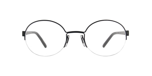 Porsche Design - P8350 blue Round Unisex Eyeglasses - 50mm