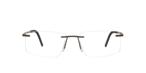 Porsche Design - P8321 Grey Rimless Men Eyeglasses - 55mm