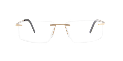 Porsche Design - P8321 Gold Rimless Men Eyeglasses - 55mm