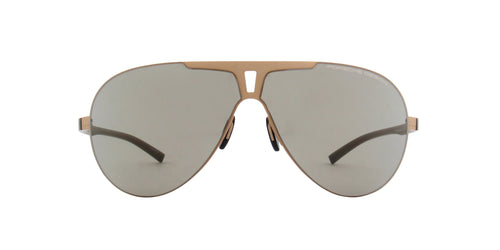 Porsche Design - P8656 gold Aviator Unisex Sunglasses - 67mm