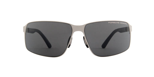Porsche Design - P8565 palladium Rectangular Men Sunglasses - 63mm