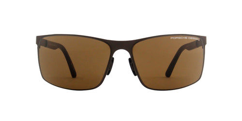 Porsche Design - P8566 chocolate Rectangular Unisex Sunglasses - 64mm