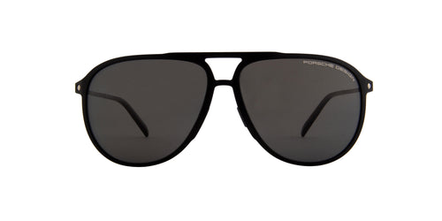 Porsche Design - P8662 Black Pilot Men Sunglasses - 62mm