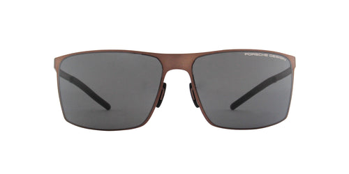 Porsche Design - P8667 brown Rectangular Men Sunglasses - 64mm