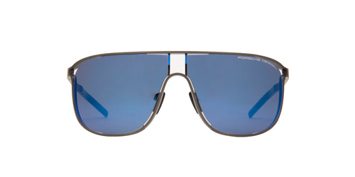 Porsche Design - P8663 Silver Shield Men Sunglasses - 66mm