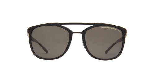 Porsche Design - P8671 Black Aviator Men Sunglasses - 55mm