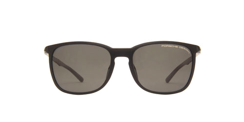 Porsche Design - P8673 Black Square Men Sunglasses - 57mm
