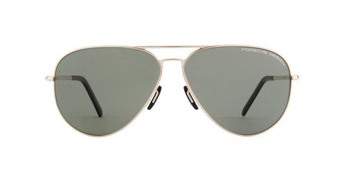 Porsche Design - P8508 gold Aviator Unisex Sunglasses - 64mm