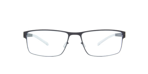 Mykita - Martin Blackberry/Clear Rectangular Unisex Eyeglasses - 55mm