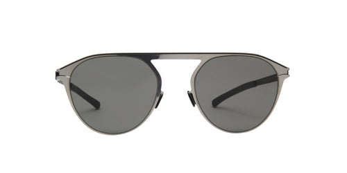 Mykita - Paulin Silver/Grey Solid Aviator Unisex Sunglasses - 51mm