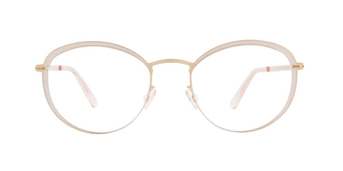 Mykita - BEULAH Champagne Gold oval  Eyeglasses - 49mm