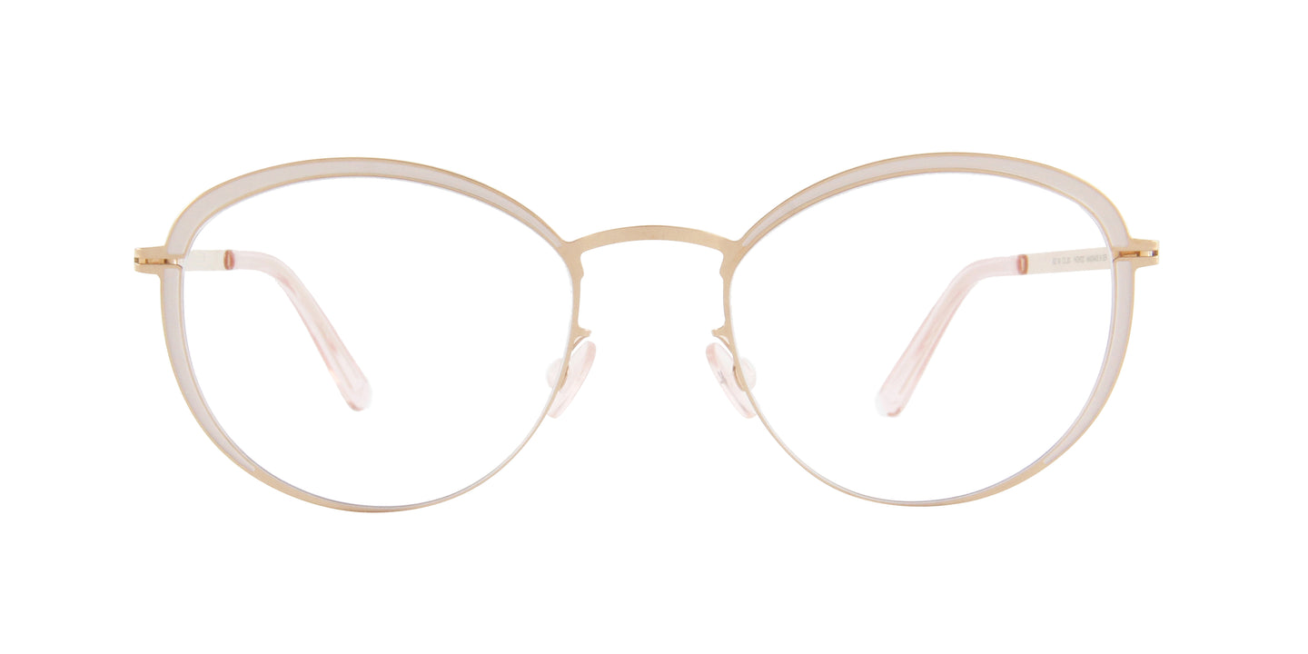 Mykita - Beulah Champagne Gold/Clear oval  Eyeglasses - 49mm
