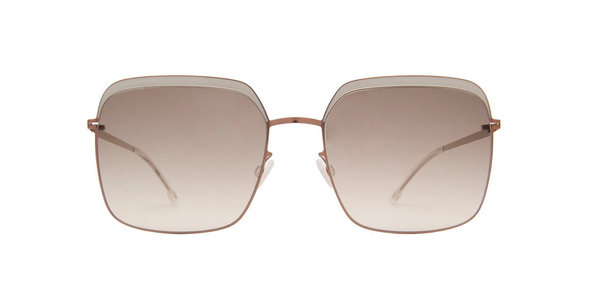 Mykita - Dalia Shiny Coppper/Grey Gradient Square Women Sunglasses - 56mm