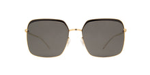 Mykita - Dalia Gold/Jet Black Square Women Sunglasses - 56mm