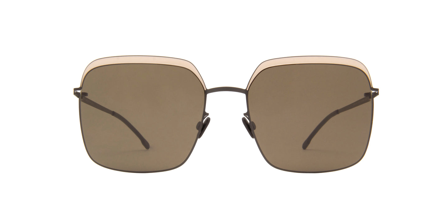 Mykita - Dalia Black/Sand Square Unisex Sunglasses - 56mm