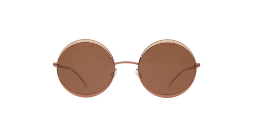 Mykita - Iris Purplebronze Sand/Brown Solid Round Unisex Sunglasses - 53mm