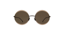 Mykita - Iris Blacksand/Green Round Unisex Sunglasses - 53mm