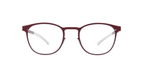 Mykita - Coltrane Cranberry/Clear Round Unisex Eyeglasses - 47mm