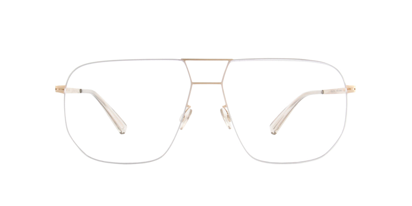 Mykita - Hiroto Silver/Champagne Gold/Clear Aviator Unisex Eyeglasses - 58mm