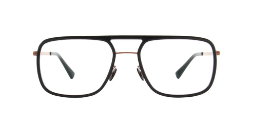 Mykita - ELGARD Shiny Copper/Black Aviator Men Eyeglasses - 54mm