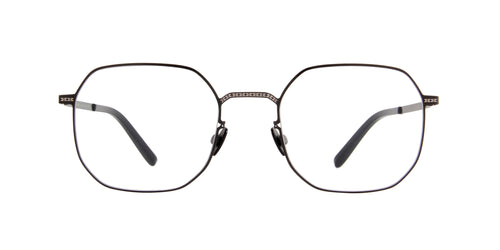 Mykita Margiela - MMCRAFT 011 Shiny Black/Sand Square  Sunglasses - 50mm