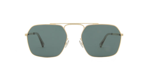 Mykita Margiela - MMCRAFT012 Glossy Gold/Dark Green Aviator Unisex Sunglasses - 52mm