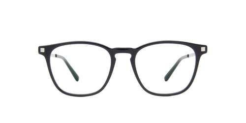 Mykita - Brandur Black/Silver/Clear Square Unisex Eyeglasses - 48mm