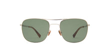 Mykita - Vito Shiny Silver/Dark Green Aviator Unisex Sunglasses - 51mm