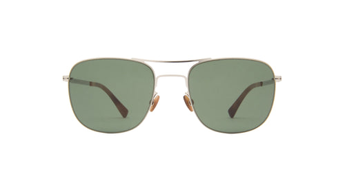 Mykita - Vito Shiny Silver Aviator Unisex Sunglasses - 51mm