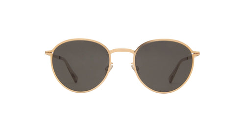 Mykita - Kasimir Champagne Gold/Dark Grey Oval Unisex Sunglasses - 50mm
