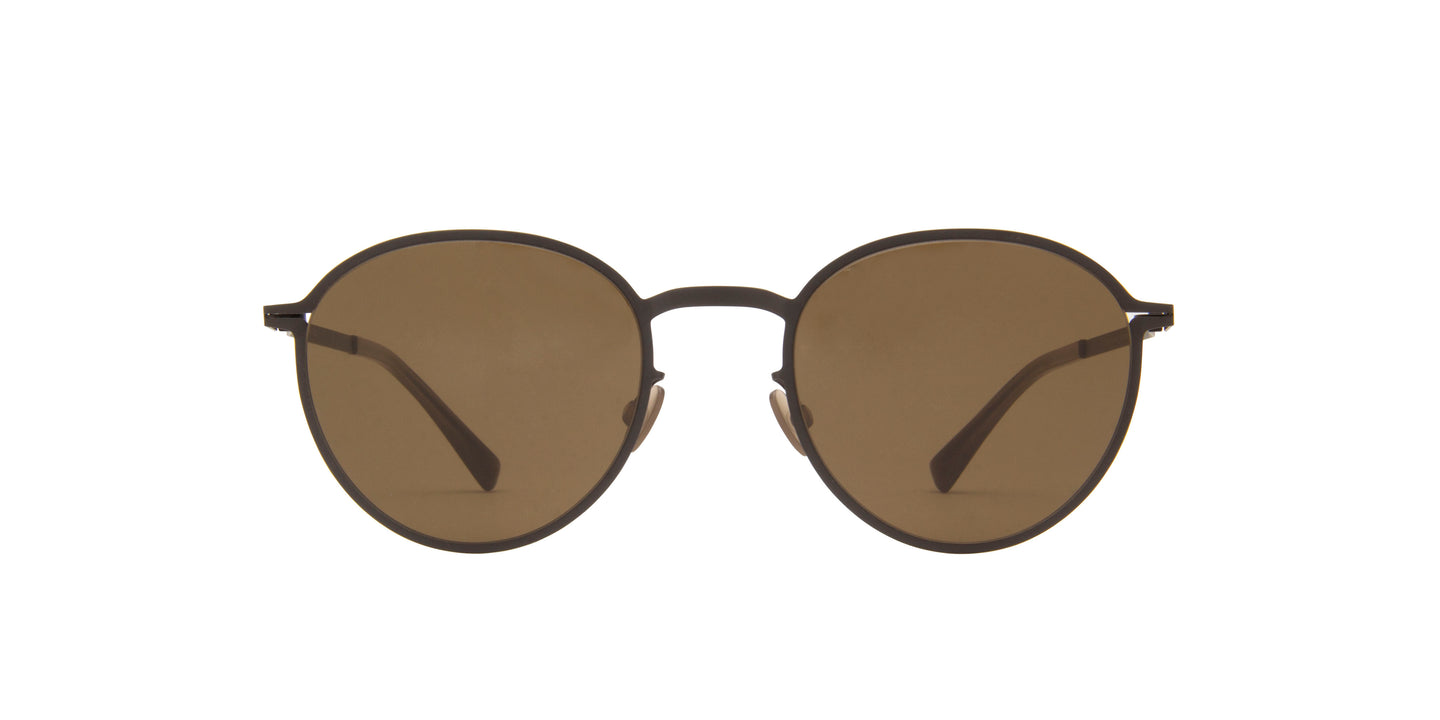 Mykita - Kasimir Black/Brown Oval Unisex Sunglasses - 50mm