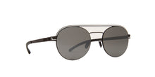 Mykita - Turner Black White/Mirror Black Mirror Round Unisex Sunglasses - 51mm