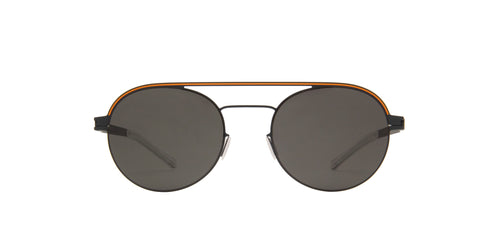 Mykita - Turner Indigo Orange/Dark Grey Round Unisex Sunglasses - 51mm