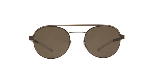 Mykita - Turner Dark Brown Dark Sand/Green Round Unisex Sunglasses - 51mm