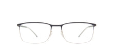 Mykita - Errki Silver Navy/Clear Rectangle Unisex Eyeglasses - 54mm