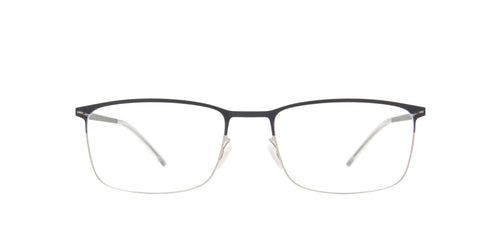 Mykita - Errki Silver/Navy Rectangle Unisex Eyeglasses - 54mm
